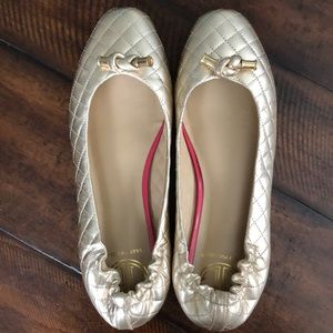 Lilly Pulitzer Quilted Champagne Flats